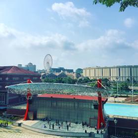 View of I-SHOU University and EDA Mall