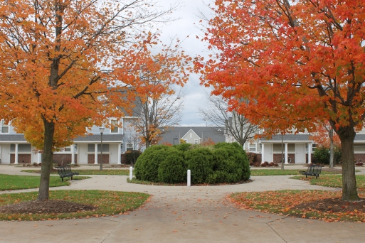 GVSU Laker Village in Fall