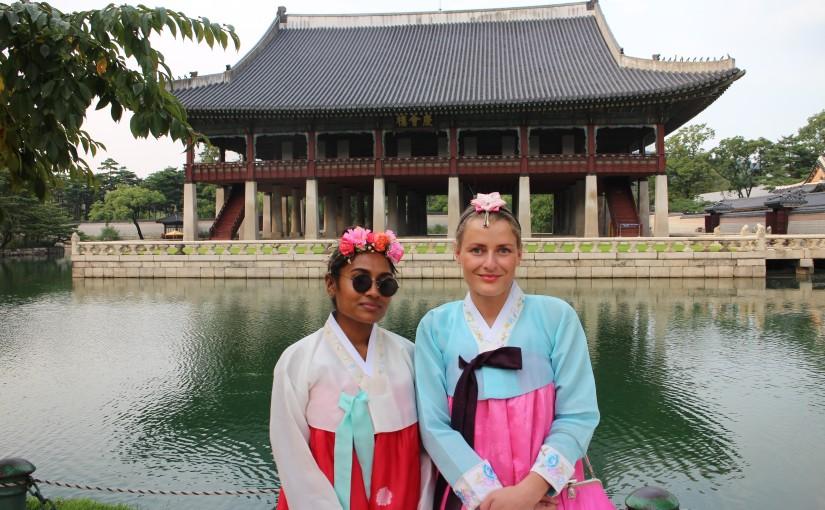 Oda-Maria and Kajana studying overseas at Konkuk University in Seoul, SouthKorea