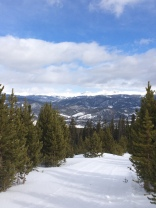 Cross country skiing in Breckenridge, Colorado