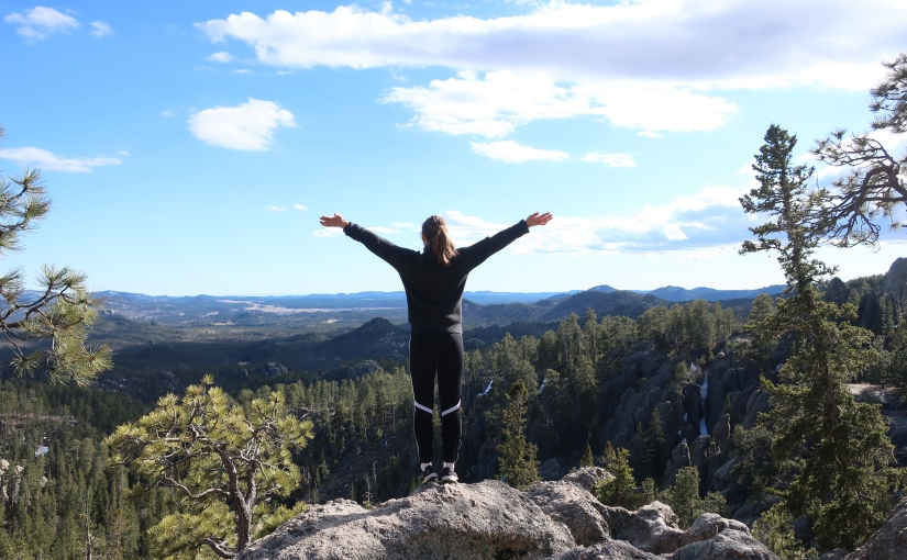 Tina Haagensen studying overseas at the University of Wyoming in theUS