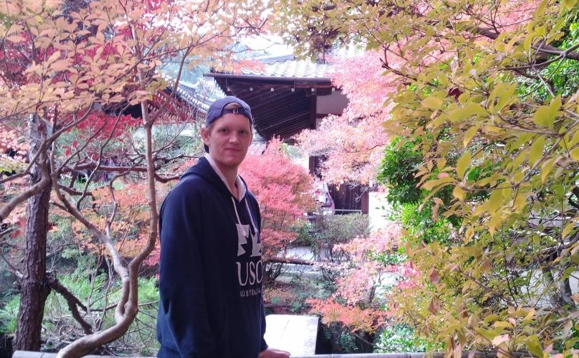 USC student Samuel Morrison studying overseas at Doshisha University in Kyoto,Japan