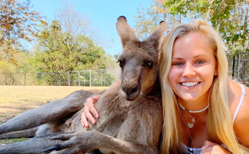 Ali Hannah from Rider University in the US studying abroad at USC SunshineCoast