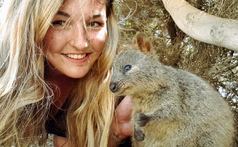 Christina Hammett from University of Applied Sciences of the Grisons in Switzerland studying at USC SunshineCoast