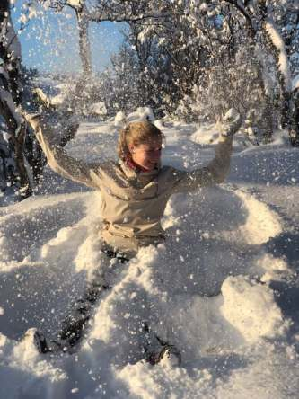 Snow angel Geilo