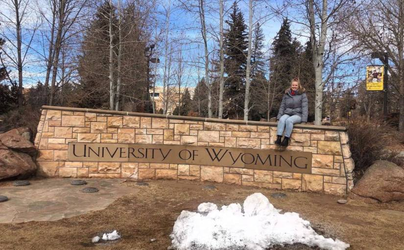 USC Student Camille Beddoes studying overseas at the University ofWyoming