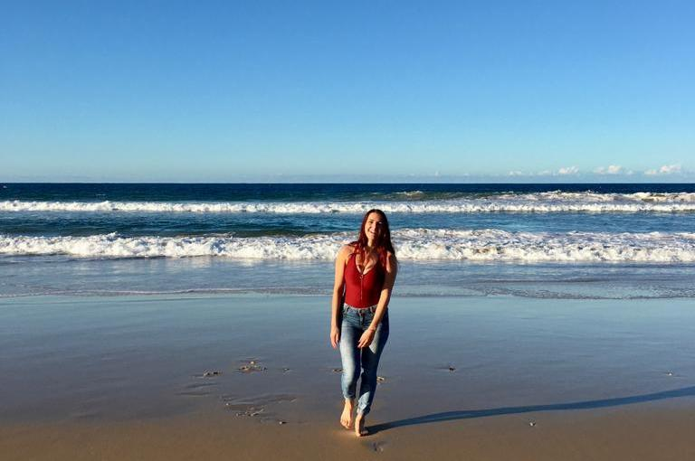 Melanie Dammerer from the University of Applied Sciences for Management & Communication Vienna studying a Bachelor of Communication (Professional Communication) at USC SunshineCoast